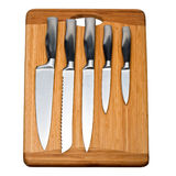 Set of kitchen knives Stock Photography