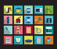 Set of kitchen machine icons. Stock Images
