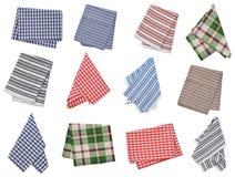 Set of kitchen napkins. Isolated on white background Royalty Free Stock Photo
