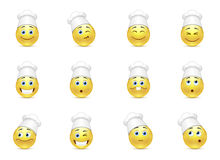 Set of kitchen smilies Stock Image