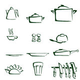 Set of kitchen tools Royalty Free Stock Photo