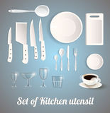 Set of Kitchen utensil Royalty Free Stock Image