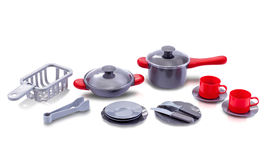Set of kitchen utensil toy Royalty Free Stock Photo