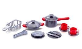 Set of kitchen utensil toy royalty free stock photo