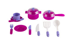 Set of kitchen utensil toys Royalty Free Stock Image