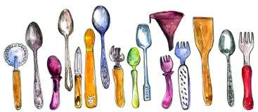 Set of  kitchen utensil Royalty Free Stock Photos