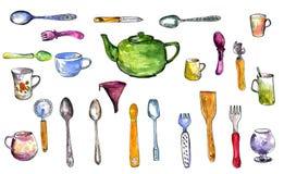 Set of  kitchen utensil Royalty Free Stock Photo