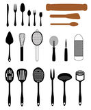 Set of Kitchen Utensils Royalty Free Stock Photos