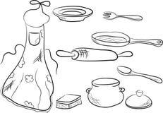 Set of kitchen utensils Royalty Free Stock Photos