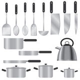 Set of kitchen utensils. Stock Images