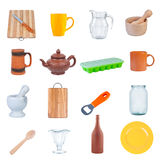 Set kitchen utensils. Stock Photography