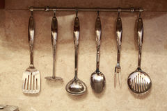 Set of kitchen utensils Stock Images