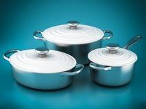 Set of kitchen utensils Royalty Free Stock Images