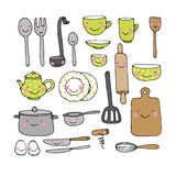 A set of kitchen utensils. Stock Photography