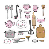 A set of kitchen utensils. vector illustration