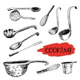 Set of kitchen utensils Stock Photos