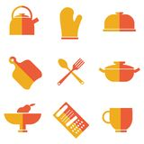Set of kitchen utensils icons Royalty Free Stock Images