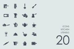 Set of kitchen utensils icons Royalty Free Stock Photos