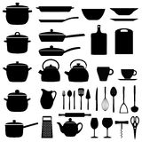 Set of kitchen utensils, illustration Stock Image