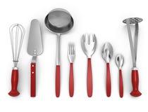 Set of kitchen utensils Stock Photos