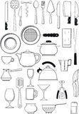 Set of  kitchen utensils Stock Image