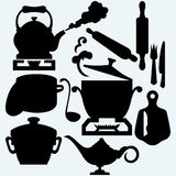 Set of kitchen utensils Stock Photo