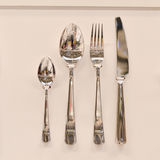 Set of kitchen utensils spoon knife fork Royalty Free Stock Photography