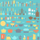 Set of kitchen utensils Stock Photography
