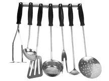 Set of kitchen utensils Royalty Free Stock Images