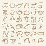 Set of kitchenware line icons Royalty Free Stock Photography
