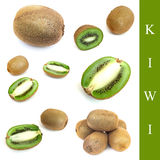 Set of kiwi Stock Image