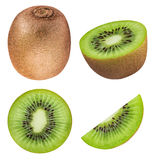 Set of kiwis isolated on white background. With clipping path stock image