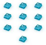 Set klawiatura guziki z liczbami Obrazy Stock