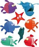 Set kleine Fische stock abbildung