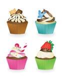 Set kleine Kuchen Lizenzfreie Stockfotos