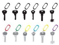 Set klucze royalty ilustracja