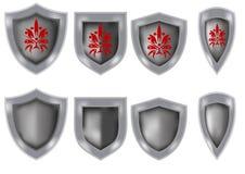 Set of knight shields Stock Photos