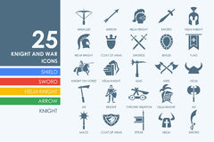 Set of knight and war icons Royalty Free Stock Image