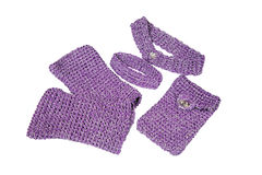 A set of knitted accessories. Handwork Stock Image