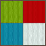 Set of knitted backgrounds Royalty Free Stock Photo