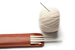 Set for knitting Stock Photo