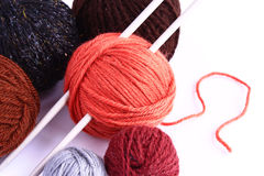 Set for knitting. On a white background Stock Images