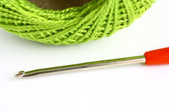 Set for knitting. On a white background Stock Photography