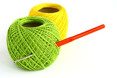 Set for knitting. On a white background Royalty Free Stock Photo