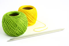 Set for knitting. On a white background Stock Photo