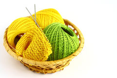 Set for knitting. On a white background Royalty Free Stock Image