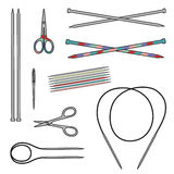 Set of knitting tools. Royalty Free Stock Image