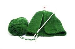 Set of knitting wool hats Stock Photo