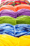 Set of knitting yarn Royalty Free Stock Photos