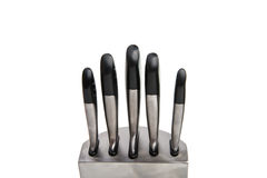 Set of knives isolated Royalty Free Stock Images
